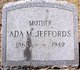 Profile photo:  Ada M Jeffords