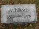 Profile photo:  A. H. Bastin