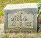 Profile photo:  Adie Sylvester Medders