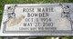 Rose Marie <I>Scott</I> Bowden