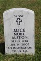 Profile photo:  Alice <I>Noel</I> Alston