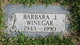 Profile photo:  Barbara J. Winegar