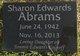 Sharon Dawn <I>Edwards</I> Abrams