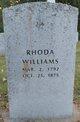 Profile photo:  Rhoda Sophia <I>Wilkinson</I> Williams