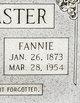 Fannie Idella LeMaster