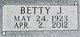 Profile photo:  Betty J. <I>Killfoil</I> Everhart