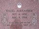 Hazel <I>Jackson</I> Alexander