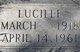 Profile photo:  Lucille Alma <I>Flanders</I> Twamley