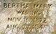 Profile photo:  Bertha Mary <I>Waring</I> Dement
