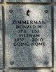 Profile photo: Spec Donald W Zimmerman