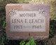 Lena E <I>Lee</I> Leach