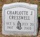 Charlotte J Cresswell