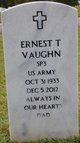 Ernest T Vaughn