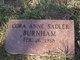 Cora Anne <I>Sadler</I> Burnham