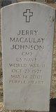 "Jerry MacAulay ""Jerry Mack"" Johnson"