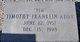 "Timothy Franklin ""Tim"" Addy"