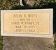 Julia Bernice <I>Mays</I> Fomby
