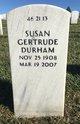 Profile photo:  Susan Gertrude Durham