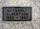 Profile photo:  Margaret <I>Masterson</I> Albertson