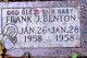 Profile photo:  Frank J. Benton