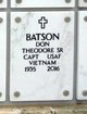 "Profile photo:  Donald Theodore ""Don"" Batson, Sr"