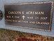 Profile photo:  Carolyn E. <I>Gideons</I> Acreman
