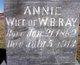 Profile photo:  Annie <I>Griggs</I> Ray