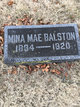 Profile photo:  Minnie May <I>Johnson</I> Balston