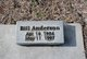 Profile photo:  Bill Anderson