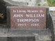 Profile photo:  John William Thompson