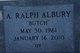"Profile photo:  A Ralph ""Butch"" Albury"