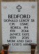 Profile photo:  Donald Leroy Bedford, Sr