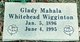 Glady Whitehead <I>Wigginton</I> Post