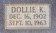 Dollie Katie <I>Rasberry</I> Alford