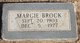 "Profile photo:  Margaret Inez ""Margie"" <I>Woodward</I> Brock"