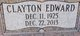 "Profile photo:  Clayton Edward ""Clay"" Dark, Sr"
