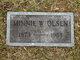 """Minerva W. """"Minnie"""" <I>Dowen</I> Olsen"""