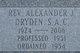 Profile photo: Rev Alexander J Dryden