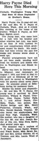 Harry <I> </I> Payne,