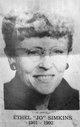 """Ethel Wilhelmena """"Jo"""" Simkins"""