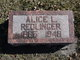 Profile photo:  Alice L <I>Allen</I> Redlinger