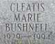 Profile photo:  Cleatis Marie <I>Crinion</I> Bushnell