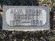 Profile photo:  Alva <I>Brook</I> Gossett