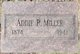 Addie R <I>Mathews</I> Miller