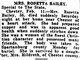 Rosetta H. <I>Sisk</I> Bailey