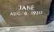 "Profile photo:  Clarice Jane ""Jane"" <I>Clyborn</I> Focke"