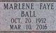 Marlene Faye <I>Ball</I> Allen
