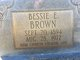 Profile photo:  Bessie E Brown