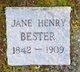 Jane A <I>Henry</I> Bester