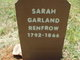Sarah <I>Garland</I> Renfro